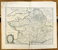 Carte ancienne ORTELIUS antic map c1630 GAULE Celte Lugdunum Narbonne Aquitaine