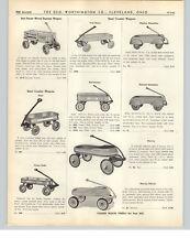 1938 PAPER AD Mercury Deluxe Steel Coaster Wagon Playboy Fenders Red Racer