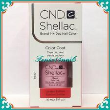 CND Shellac Beau Semi-sheer Pink UV LED GEL Color Polish Ltd Ed Large Size .5 Oz