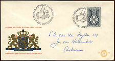 Netherlands 1965 Military William Order FDC First Day Cover #C27215