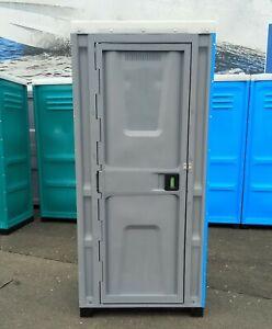 Plastik WC Kabine, Toilettenkabine, Mobile WC, Baustelle WC, Garten WC - BLAU