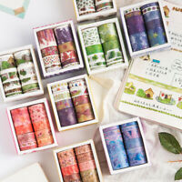 10 Rolls Cute Flower Paper Washi Tape Adhesive Scrapbook Sticker  DIY Craft