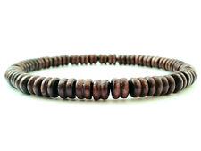 men's bracelet mala wood beads stretch beaded cuff gift wristband accessory mens