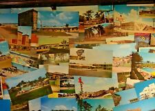 LOT OF 50 + VINTAGE & CHROME  POSTCARDS *** UNUSED / USA & FOREIGN , ALL SIZES