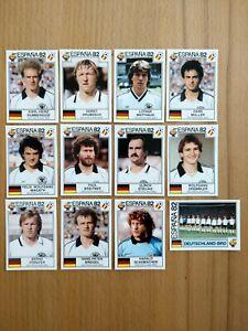 Panini World Cup Story: 12 Bilder Nationalmannschaft Deutschland WM 1982 Spanien
