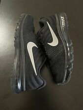 New listing Nike Air Max 2017 Black Size 11 Reflective Swoosh Running Shoes Og
