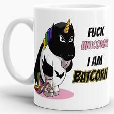 """Unicorn / Einhorn / Tasse mit Spruch - Kaffeetasse Mug Cup """"Batcorn"""""""