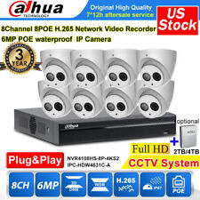 Dahua Camera Cctv System Kit 8Ch Nvr4108Hs-8P-4Ks2 6Mp Mic Ip Ipc-Hdw4631C-A lot