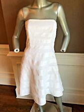 NWT White House /Black Market White Strapless Lace/Ribbon Dress Sz 2