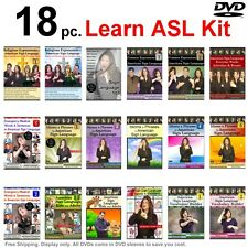 18-DVD Complete American Sign Language Training Set (18 DVDs) NEW