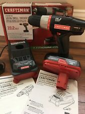 "BRAND NEW Craftsman 19.2V 1/2"" Drill/Driver Kit includes Battery & Charger 35703"