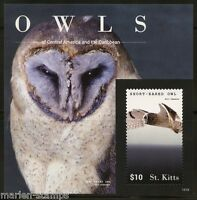 ST. KITTS  2015 OWLS  SOUVENIR SHEET II  MINT NH