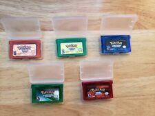Pokemon Emerald +Sapphire +Ruby +FireRed +LeafGreen (Game Boy Advance GBA) LOT