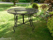 FRENCH GARDEN TABLE 120x120cm antique brown WROUGHT IRON OUTDOOR QUALITY NEW