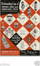1956 PAPER AD Plastic Playthings Inc Co Toy Donald Duck Mickey Mouse Robin Hood