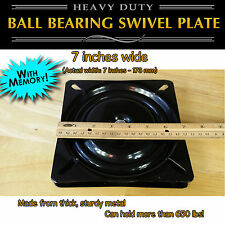 1pc - 7 inch (173mm) Full Ball Bearing Flat Swivel Plate with MEMORY RETURN