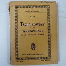mini pocket score TSCHAIKOWSKY Op 64 Symphonie 5 E minor, Eulenburg 429