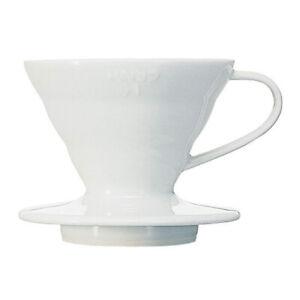 Hario V60 Ceramic Coffee Dripper Size 01 White