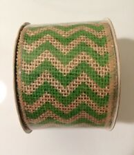 """Green Wired Edge Ribbon - 2.5"""" x 15Ft"""