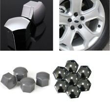 20pc Cap Bolts Covers Alloy Wheel Nut For Audi VW Bmw Mercedes Chrome W/ 2 Key