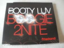 BOOTY LUV - BOOGIE 2NITE - HOUSE CD SINGLE