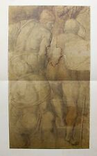 """MICHELANGELO 1970 Lithograph """"CARDBOARD FOR THE CRUCIFIXION OF ST. PETER"""""""