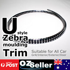 2M Car Grille Interior/Exterior Moulding Zebra Styling Decoration Trim Strip NEW