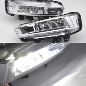 2x White LED Daytime Day Fog Light DRL For Land Rover Discovery Sport L550 14-18