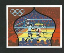 Antigua Barbuda 1980 Olympic Games min sheet used