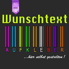 Beschriftung Wunschtext AutoTuning Aufkleber selbst gestalten Schriftzug Zahl !