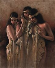THE BATHERS by Lee Bogle CANVAS GICLEE