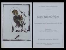 STANI NITKOWSKI - GALERIE PATRICIA PERSONNE - 1989 - CARTON INVITATION