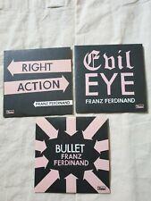 Franz Ferdinand - Bullet / Evil Eye / Right Action  - 3x Promo CD Singles