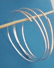 Silberdraht 925 Sterlingsilber Ringschiene Ring Armreifen-Design Massiev NEU