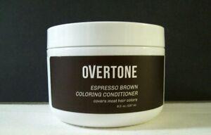 OVERTONE Coloring Conditioner – 8 Oz – Never Opened – Espresso Brown - No PPD -