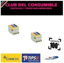 8 X CARTUCHOS T0551,T0552,T0553,T0554 NO OEM PARA EPSON Stylus Photo R 240