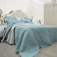 Macey and Moore Monet Ice Blue Coverlet Set Set King Bed Size RRP315.95