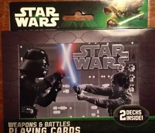 STAR WARS BATTLE PLAYING CARDS - 2DECKS - 1 TIN 2013 - DAY U PAY IT SHIPS FREE