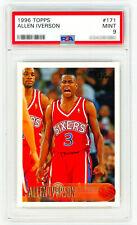 ALLEN IVERSON Rookie Card 1996 Topps #171 PSA 9 MINT RC NON-CHROME