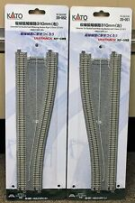 LOT of 2 - N Scale KATO UNITRACK 20-051 & 20-052 Double Track Widening Sections