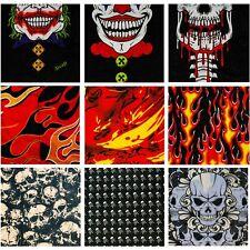 (Pack of 9) Flame Skull Bandana Headband Face Shield Balaclava Scarf Neck Gaiter