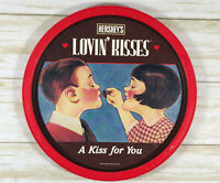 Hersheys Chocolate Vintage 1993 Red Tin Plate Lovin Kisses A Kiss For You
