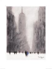Jon Barker Lourd Chute de neige 5ème Avenue New York Art Print PP40433 60cm x