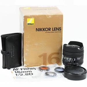 Nikon 16mm f/2.8 AF-D Fisheye Wide Angle Lens Boxed