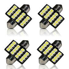 4x White 31mm 4SMD Festoon LED Interior Dome Map License Light Bulb DE3175 3022
