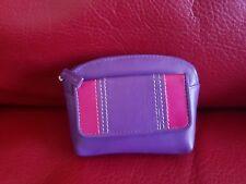 Graffiti butter soft purple leather purse notes coins cards 4 ur bag