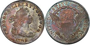 1798 DRAPED BUST DIME 10C PCGS MS 64+ CAC LARGE 8 VARIETY OLD US SILVER COIN
