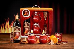 Feuerzangentasse Geschenkset weihnachtsrot Original für Feuerzangenbowle