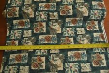 By 1/2 Yd, Cream Brown Red & Green Quilting, Thimbleberries/Snow Country, B1109