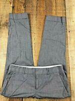 "Banana Republic Martin Fit Gray Cuffed Capri Pants SZ 2P  27x23""   Stain on Leg"